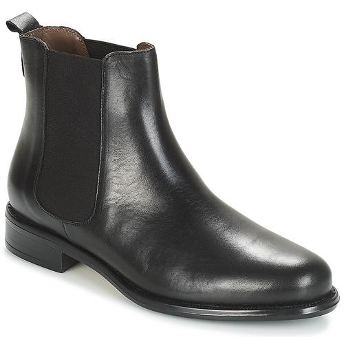 André CARAMEL Negro - Envío gratis | ! - Zapatos Botas de caña baja Mujer