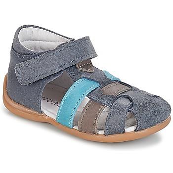 Zapatos Niño Sandalias André LES PRALINES Azul