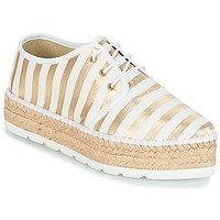 Zapatos Mujer Alpargatas André ZEBRE Blanco
