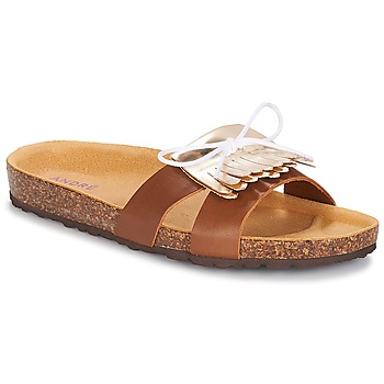 Zapatos Mujer Zuecos (Mules) André COMORES Camel