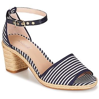 Zapatos Mujer Sandalias André JAKARTA Rayas / Azul