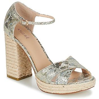 Zapatos Mujer Sandalias André TAPAGEUSE Beige