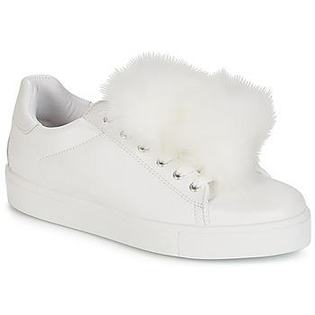 Zapatos Mujer Zapatillas bajas André POMPON Blanco