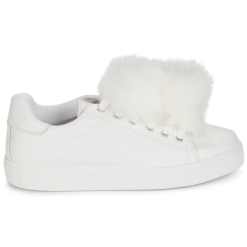 Zapatillas Bajas Blanco Mujer Zapatos André Pompon xQBeCrWdoE
