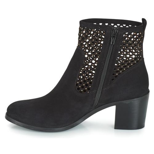 Zapatos Baja Botas Caña André Totem De Mujer Negro TK1JclF