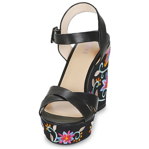 Mujer Sandalias Negro Broderie Zapatos André ZlkuXwPOiT