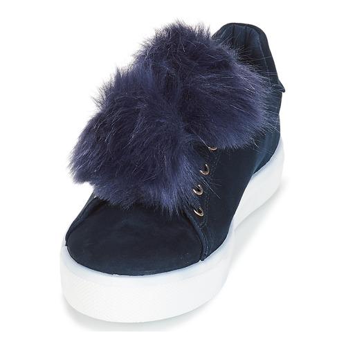 Bajas Zapatos Mujer André Azul Pompon Zapatillas 9ID2EH