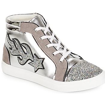 Zapatos Mujer Zapatillas altas André LOTUS Plateado