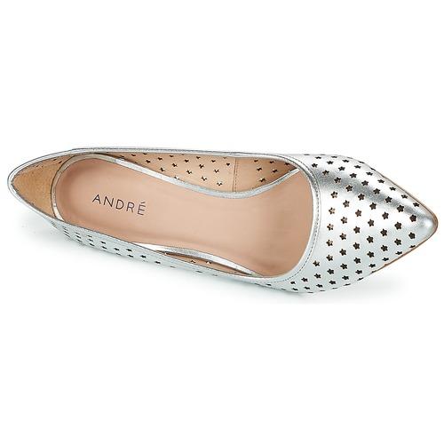 Zapatos De André Louna Plateado Tacón Mujer NOXwk80ZnP