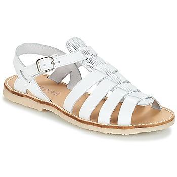 Zapatos Niña Sandalias André CANDIE Blanco