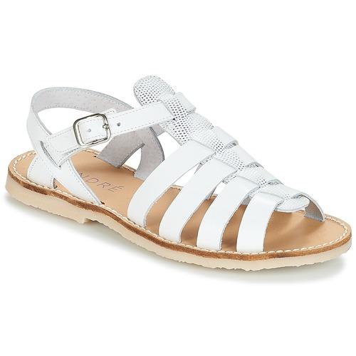 André CANDIE Blanco - Envío gratis | ! - Zapatos Sandalias Nino