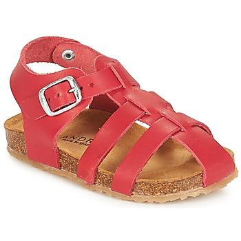 Zapatos Niños Sandalias André AVIRON Rojo