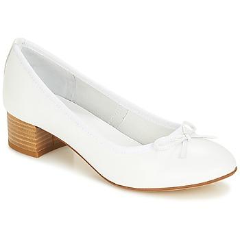 Zapatos Mujer Bailarinas-manoletinas André POETESSE Blanco