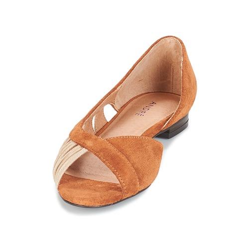 Mujer André Sandalias Pipa Zapatos Camel 3R54jLA