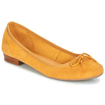 Zapatos Mujer Bailarinas-manoletinas André CINDY Amarillo