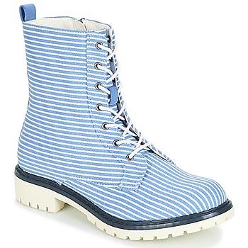 Zapatos Mujer Botas de caña baja André PRUNE Rayas / Azul