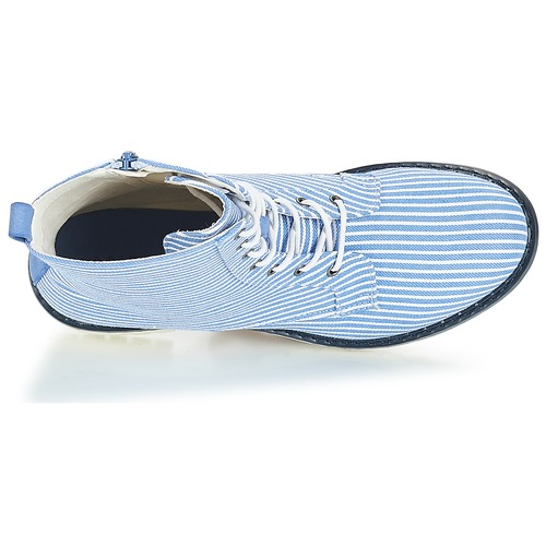 Zapatos Baja Botas Caña André De RayasAzul Prune Mujer qcR435LjA