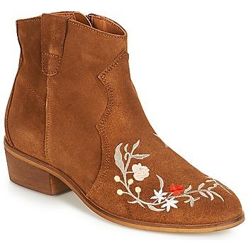 Zapatos Mujer Botas de caña baja André WEST Camel