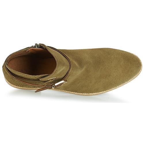 André Botas Caña Zapatos Mujer Baja Kaki De Idaho Ok80wPnX