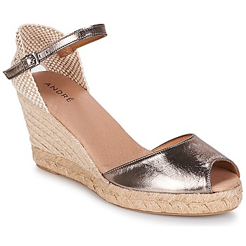 Zapatos Mujer Alpargatas André CADIX Dorado