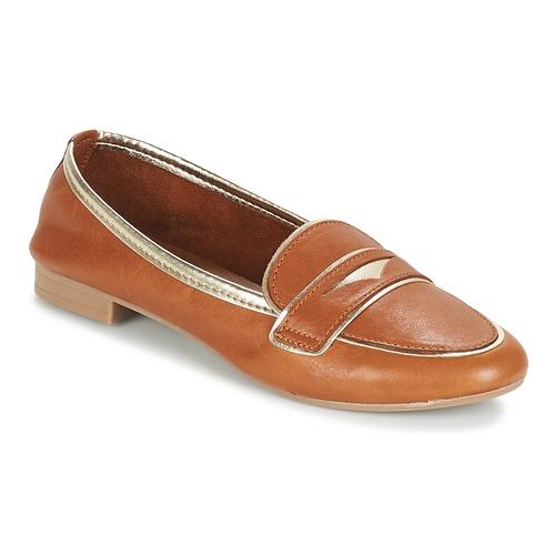 André CLOCHETTE Camel - Envío gratis | ! - Zapatos Mocasín Mujer