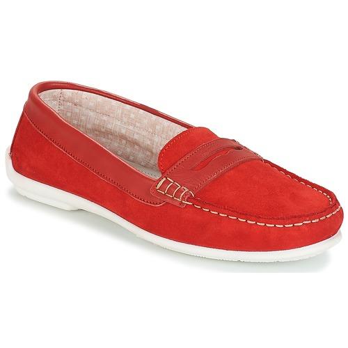 Frioula Zapatos Mocasín Rojo Mujer André dCreBox