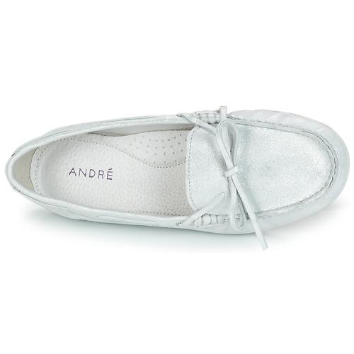 Frida Mocasín Zapatos Mujer Plateado André sdtrChxoQB