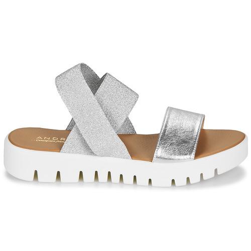 Sandalias Zapatos Emy Mujer Plateado André K1JlFuTc3
