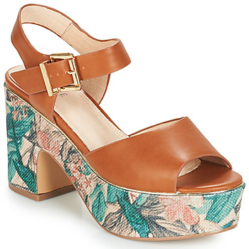 Zapatos Mujer Sandalias André ALTO Camel