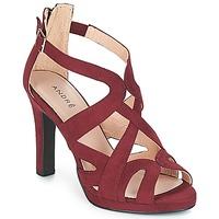 Zapatos Mujer Sandalias André CHARLESTON Burdeo