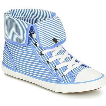 Zapatos Mujer Zapatillas altas André GIROFLE Blanco / Azul