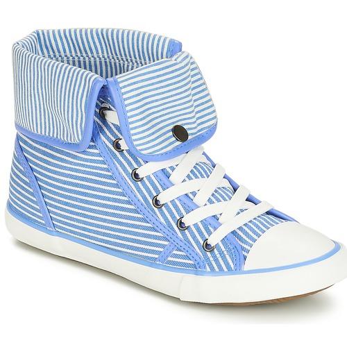 Mujer Girofle Altas André BlancoAzul Zapatos Zapatillas 8wOymn0vN