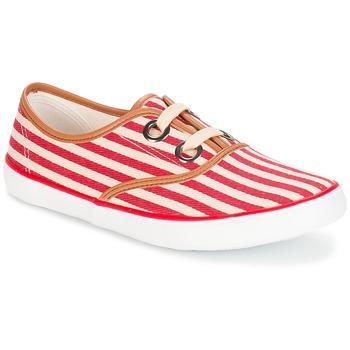 Zapatos Mujer Zapatillas bajas André MELON Rojo