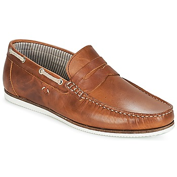Zapatos Hombre Zapatos náuticos André FREGATE Marrón