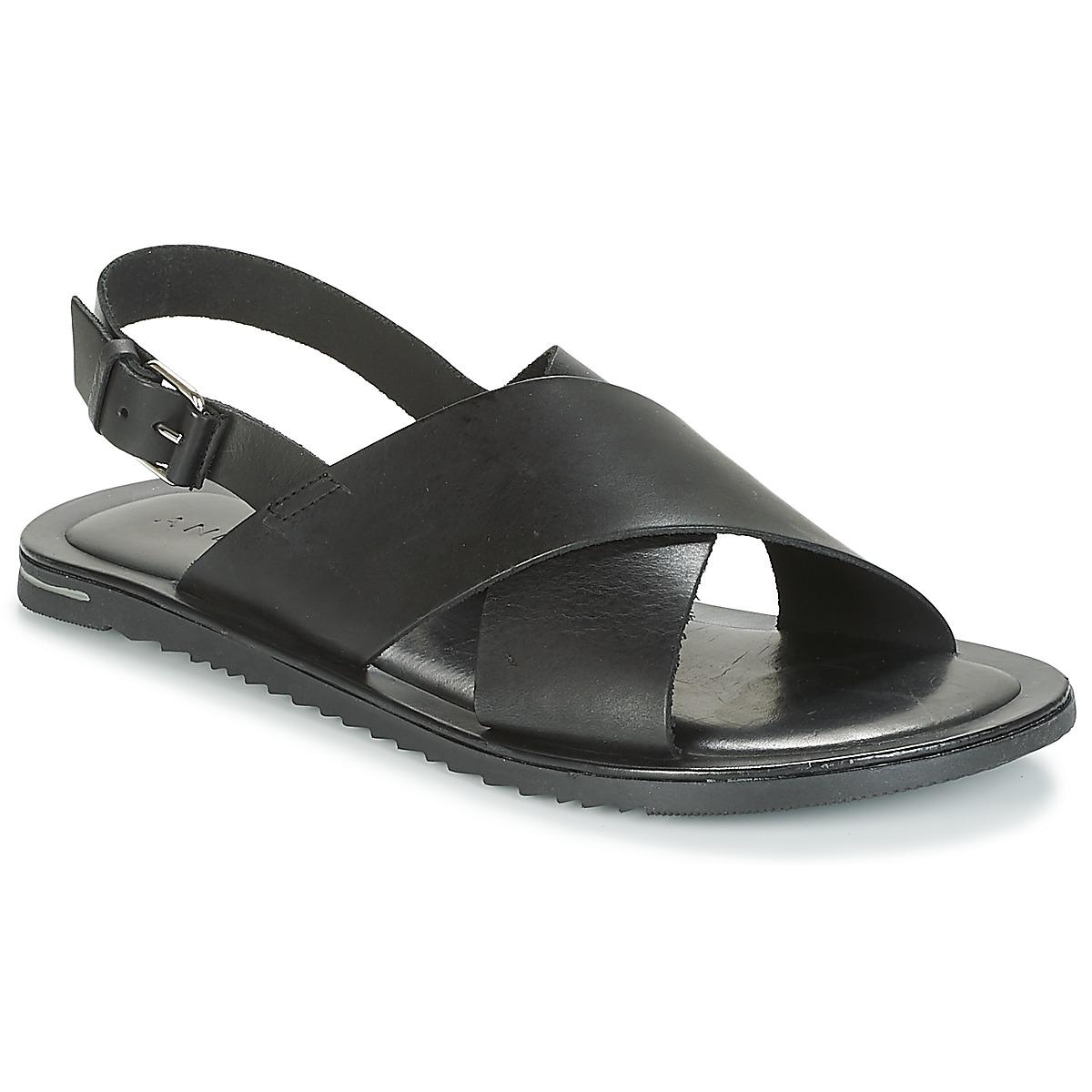André SILVIO Negro - Envío Envío Envío gratis Nueva promoción - Zapatos Sandalias Hombre 9cf7f1