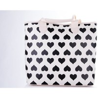 Bolsos Mujer Bolso shopping Twin Set Bolso blanco corazones Multicolor
