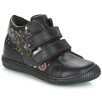Zapatos Niña Zapatillas bajas Citrouille et Compagnie JUPETTE Negro / Flores