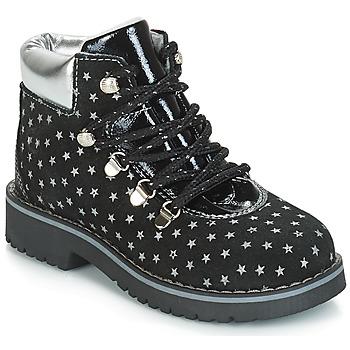 Zapatos Niña Botas de caña baja Citrouille et Compagnie JORDA Negro / Plateado