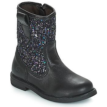 Zapatos Niña Botas urbanas Citrouille et Compagnie JUCKER Negro / Brillantinas