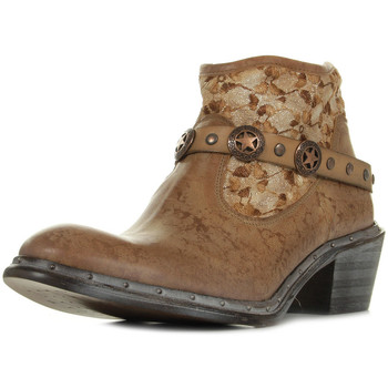 Zapatos Mujer Botas de caña baja Bunker Nely Jungle Camel Marrón