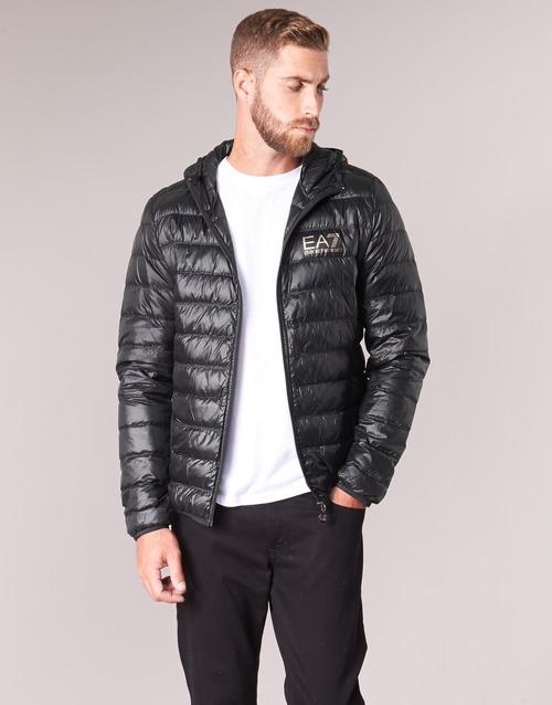 textil Hombre Plumas Emporio Armani EA7 TRAIN CORE ID M DOWN LIGHT Negro / Oro