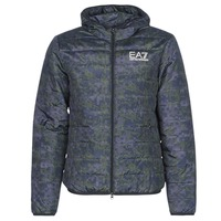 textil Hombre plumas Emporio Armani EA7 TRAIN GRAPHIC SERIES M JACKET HOODIE ALL OVER CAMOU Kaki / Azul