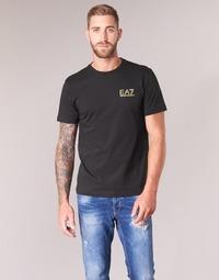 textil Hombre camisetas manga corta Emporio Armani EA7 JAZKY Negro / Oro