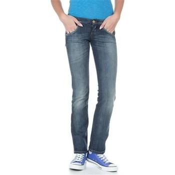 textil Mujer Vaqueros rectos Lee Lynn L38418HD azul