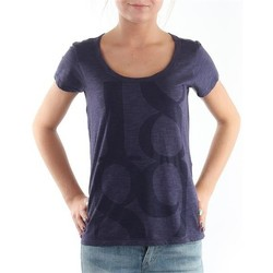 textil Mujer Camisetas manga corta Lee T-Shirt  Scoop Mystic Plum 40KFL87 azul
