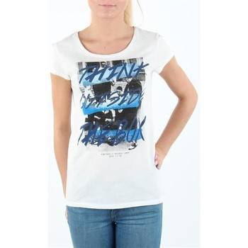 textil Mujer Camisetas manga corta Lee T-shirt Damski SLIM T CLOUD DANCER L41MEVHA blanco