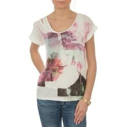 textil Mujer Camisetas manga corta Lee T-shirt  Night Cloud Dancer L485AUHA blanco
