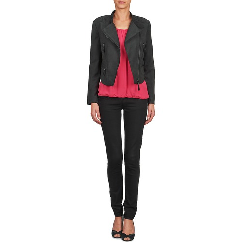 Soon U See ChaquetasAmericana Textil Candice Mujer Negro g6bfyY7v