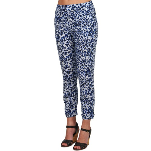 U Textil Pantalones Fluidos See Mujer AzulNegro Soon Clara Y7bfy6g