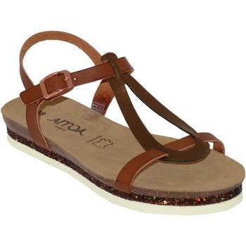 Zapatos Mujer Sandalias Amoa Loches Castaño